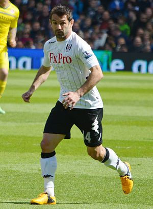 Giorgos Karagounis - Giorgos Karagounis playing for Fulham in May 2013