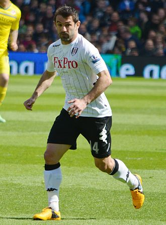 Giorgos Karagounis - Giorgos Karagounis playing for Fulham in May 2013