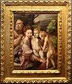 Girolamo mazzola bedoli, sacra famiglia con un angelo, 1530-60 ca.jpg