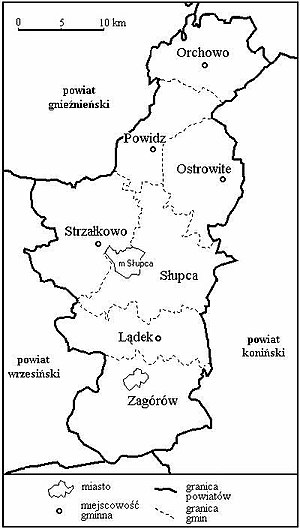 Słupca County - Image: Gminy powiatu slupeckiego