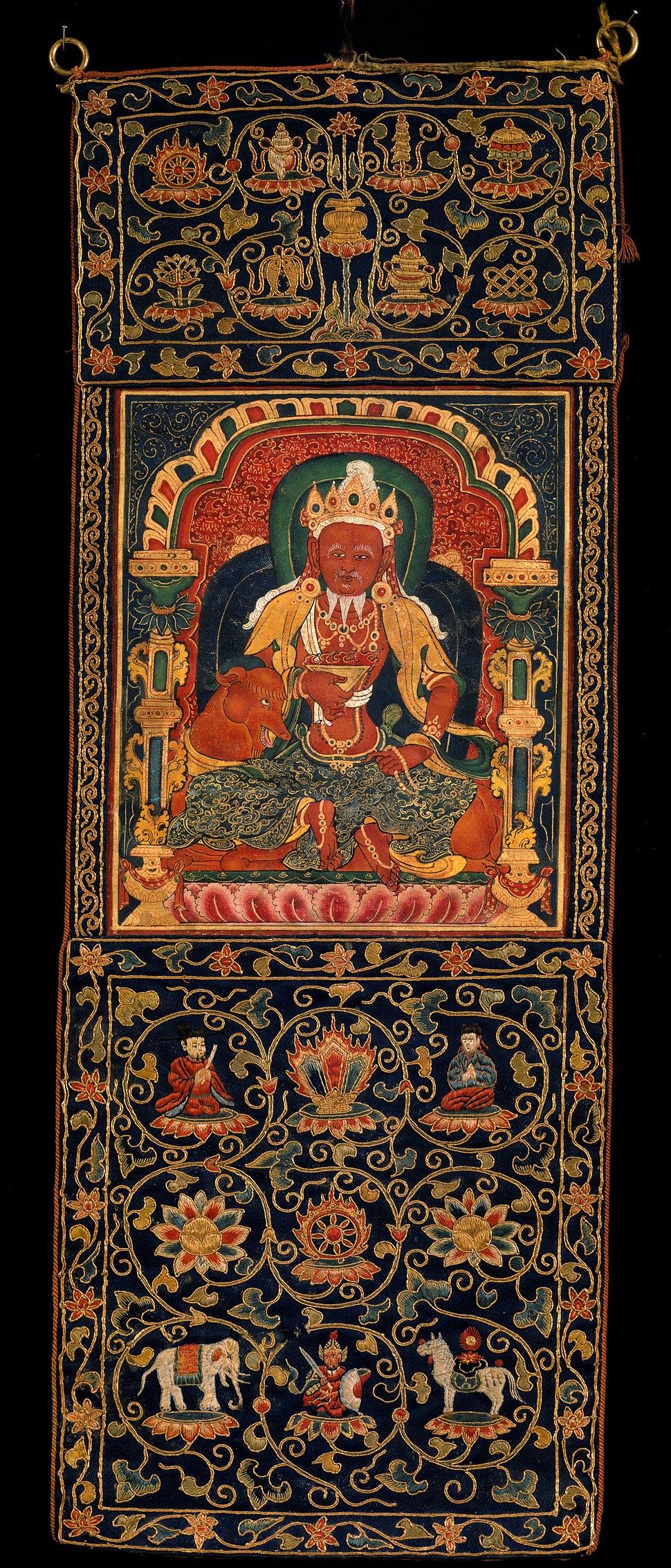 God of Fire, Agni, of the Medicine Buddha Mandala - Google Art Project