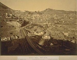 Gold Hill, Nevada - Gold Hill, late 1870s. Photo: Carleton Watkins
