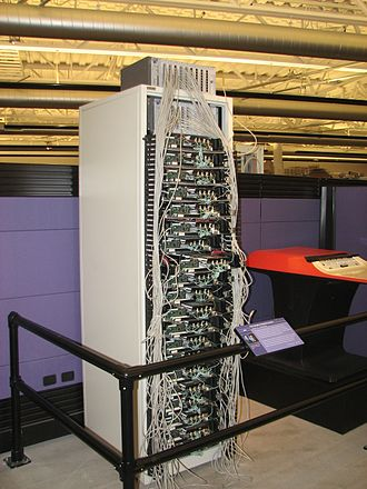 Google data centers - Google's first production server rack, circa 1998