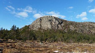 Strand, Norway - View of the mountain Gramsfjellet