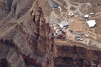 Grand Canyon Skywalk - Aerial view of the Grand Canyon Skywalk