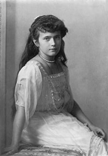 Youngest daughter of Tsar Nicholas II of Russia