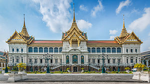 Chakri dynasty - The Chakri Mahaprasat, inside the Grand Palace in Bangkok, the dynastic seat and official residence of the dynasty.