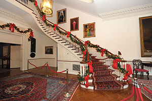 Government House (Maryland) - Image: Grand Staircase, Government House, Maryland