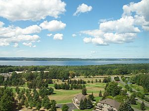 M-37 (Michigan highway) - East Arm of the Grand Traverse Bay as seen from the ridge along the Old Mission Peninsula