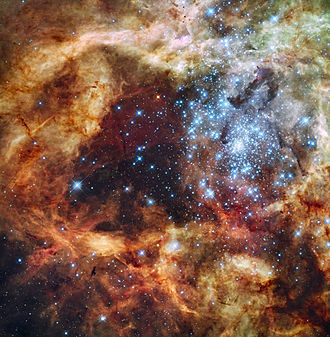 Super star cluster - R136  (Located in the Tarantula Nebula)