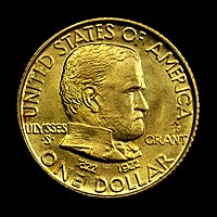 Gold dollar with Grant's portrait