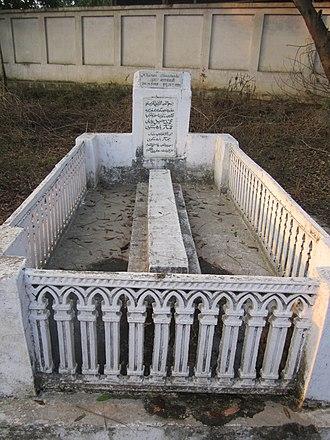 Khumar Barabankvi - Grave of Khumar Barabankvi, Karbala Civil Lines, Lucknow-Faizabad Road, Barabanki city