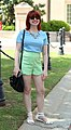 Green Scalloped Shorts, Baby Blue Top, and White Sandals (17396821965) (cropped).jpg
