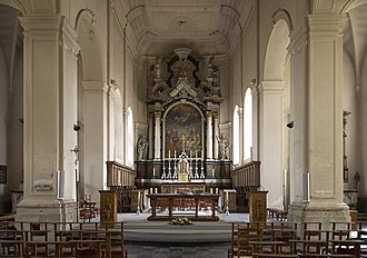 Grez-Doiceau - Altar of Saint George's church, Grez-Doiceau