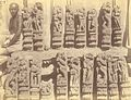 Group of sculptured pilaster figures representing amorous scenes, from the Surya Temple or Black Pagoda, Konark - Orissa 1890.jpg