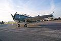 Grumman TBM-3E Avenger BuNo 91436 NL436GM LFrontSide Dawn SNF 04April2014 (14585632022).jpg