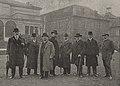 Gruppenführer der Malkasten-Redoute in 1912 – Groll, Prof. Pohle, Wansleben, Thilo Schneider, Coubillier, Nordenberg, Murfield, Prof. von Wille.jpg