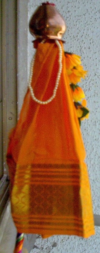 Marathi people - A Gudhi is erected on Gudhi Padva