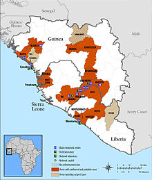 Guinea Sierra Leone Ebola Map April 14 2014.jpg