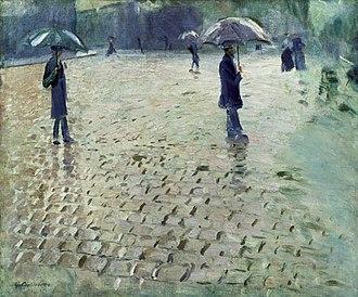 Paris Street; Rainy Day - Study for Paris Street; Rainy Day
