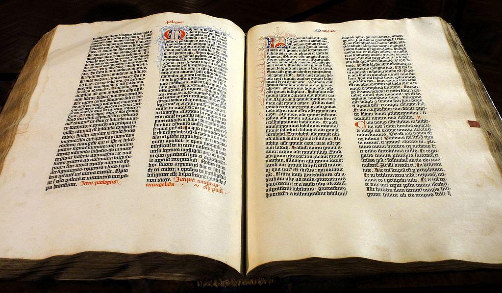 Nomenklatura typograficzna - Biblia Gutenberga