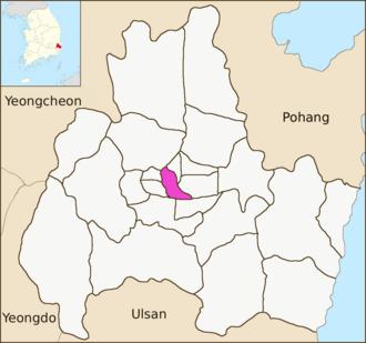 Hwango-dong - Image: Gyeongju map Hwango dong 01