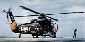 HH-2D Seasprite HC-2 on USS Saratoga (CVA-60) 1970.jpg