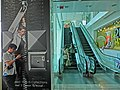 HK 尖沙咀 TST 海港城 Harbour City Ocean Terminal Schindler escalators visitors Mar-2013.JPG