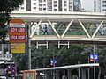 HK Causeway Road HKCL covered footbridge 2 Victoria Park Act Now banners NWFBus 601 680A 680P stop.JPG