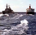 HMS Exeter heading home, 1982.jpg
