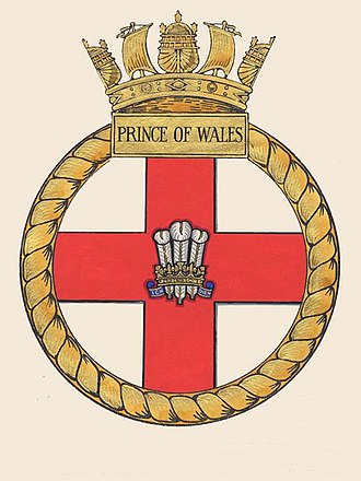 HMS Prince of Wales (R09) - Image: HMS Prince of Wales ships crest