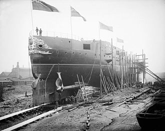 Thames Ironworks and Shipbuilding Company - Image: HMS Sans Pareil ready for launching 1887 Flickr 5374541067 30e 01bf 104 o