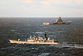 HMS York Shadws Russian Aircraft Carrier Admiral Kuznetsov off Scotland MOD 45153480.jpg