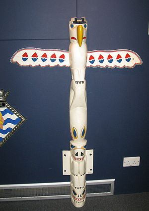 HMS Totem (P352) - Totem pole carried by Totem