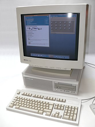 Common Desktop Environment - HP 9000 model B180L running HP-UX and CDE