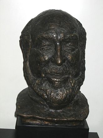 Shmuel Rodensky - Bust of Shmuel Rodensky at the Habima Theatre