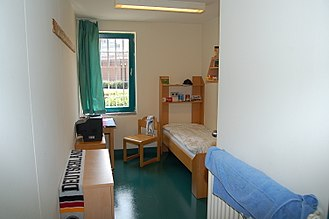 Prison cell - A contemporary prison cell in Germany