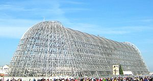 Hangar One (Mountain View, California) - Exterior panels removed, September 2012