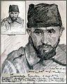 Hans Gyenis, Porträtzeichnung Kgf. Siwavatulla Pafiullin, Oktober 1916.jpg