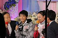 Hanyu and Asada in Yutaka ' s room at the 2012 NHK Trophy.jpg