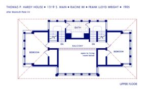 Thomas P. Hardy House - Image: Hardy House Upper Floor