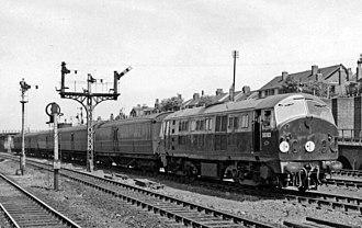 British Rail Class 21 (NBL) - D6103 at Harringay West in 1959.