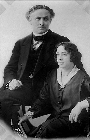 Harry Houdini and his wife Beatrice