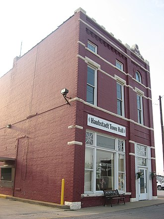 National Register of Historic Places listings in Gibson County, Indiana - Image: Haubstadt State Bank
