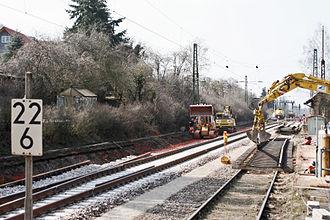 Rhine-Neckar S-Bahn - Construction between Kaiserslautern and Homburg