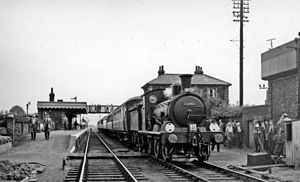 Haverhill railway station - RCTS Rail Tour in 1958