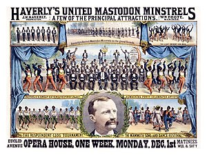 Minstrel show - Poster for Haverly's United Mastodon Minstrels