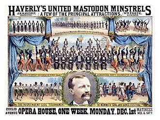 Minstrel show - Poster for Haverly's United Mastodon Minstrels