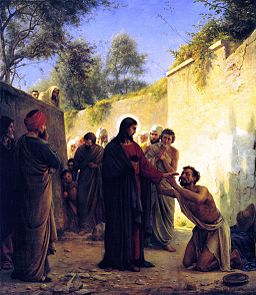 Healing of the Blind Man - Carl Bloch