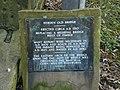 Hebden Old Bridge, Plaque - geograph.org.uk - 1079281.jpg